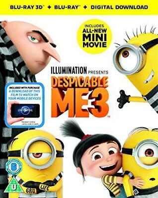 Despicable Me 3 (3D Blu-Ray + 2D Blu-Ray + digital download) [2017], New, DVD, F