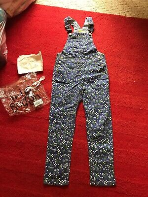 NEW MINI BODEN Floral Print Dungarees Size 7-8 YRS BNIP Girls Clothing Trousers