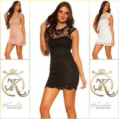 Koucla High-Low-Kleid Dress Cocktail Kleid Party Minikleid Abendkleid  Zip