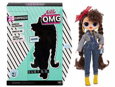 LOL Surprise OMG Fashion Doll BUSY B.B. Series 2 Puppe NEU PUPPE MIT HAAREN