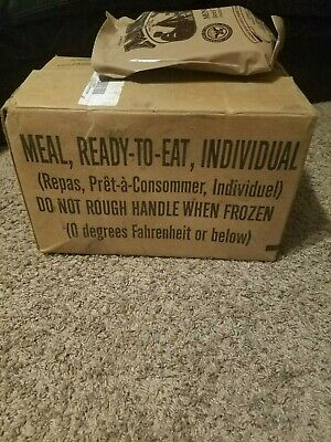 NEW 2022 U.S. Military MRE (Meal Ready To Eat) Case A; Menu 1-12