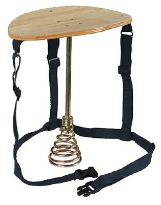 Melkschemel with Metal Base Stand Spring and Wooden Seat Milking Stool 2910