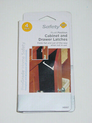 Safety 1st HS007 4-Pack ProGrade Pivot Position Cabinet & Drawer Latches