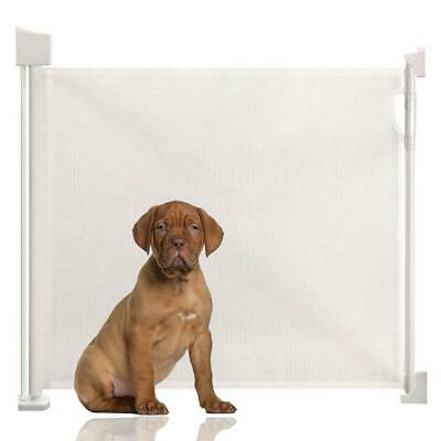 Bettacare Advanced Retractable Puppy Pet Gate Premium Folding Dog Barrier White