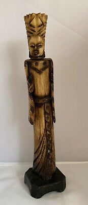 Antique Horn Carved Oriental Male Figure 29.8cm Beautifully Hand Carved
