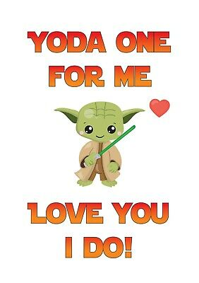 Personalised Funny Star Wars Yoda For Me Valentines Day Card