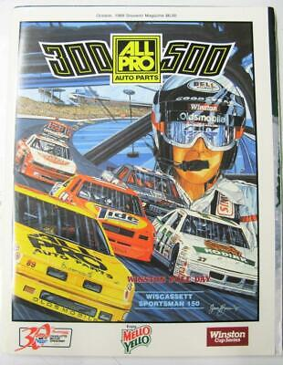CHARLOTTE Motor Speedway Official Programme Oct 1989 300/500 All Pro Auto Parts