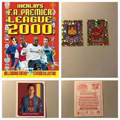 Merlin Premier League 2000 individual Stickers. various quantities available