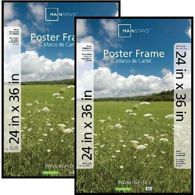 Basic Poster Picture Frame 24x36 Hang Large Print Art Photo Set of 2 White Black