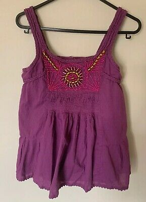 Monsoon Girls Top Vest age 11-12 Years In Purple