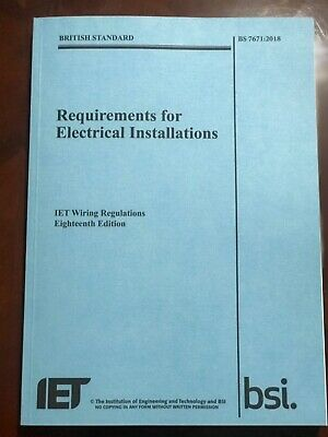Requirements for Electrical Installations IET Wiring Regulations 18th Edition