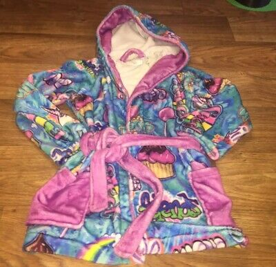 Penelope Wildberry Girls Size 7/8 Adorable Super Comfy Hooded Bathrobe