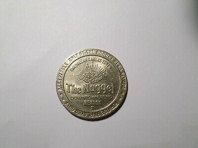 "$1 Casino Slot Token,Reno, NV, Vintage Dollar Coin ""The Nugget"" NICE & RARE."