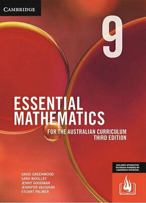 NEW Essential Mathematics for the Australian Curriculum Year 9 Third Edition By