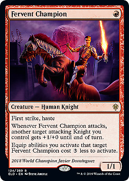 Fervent Champion (124) Throne of Eldraine Mtg x1 1x ELD Magic