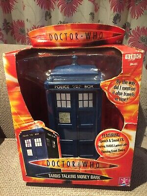 Doctor Who Dr Who Tardis Talking Money Bank - New In Box