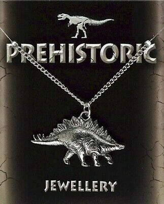 Stegosaurus Silver Pewter Pendant On A Chain