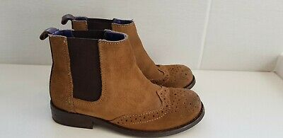 Next Size 10 Chelsea Boots Brown Tan Boys Kids Toddler