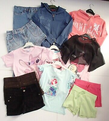 Mixed Bundle Girls Clothes Age 7-8 8-9 Hoodies Tops Shorts Ted Baker Disney Next