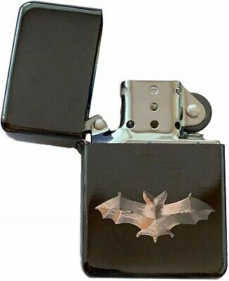 Emblems-Gifts Personalised Bat Black Ice Colour Star Petrol Lighter (T18)