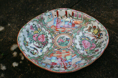 Antique Chinese Porcelain Hand Painted Famille Rose Plate