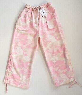 BNWT Jasper Conran Girls Pink & White Cotton Cargo Caprice 3/4 Trousers Age 6