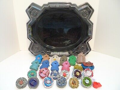 Beyblade Burst Battle Stadium Arena Beystadium w/ 12 Beyblades & Launchers Lot !