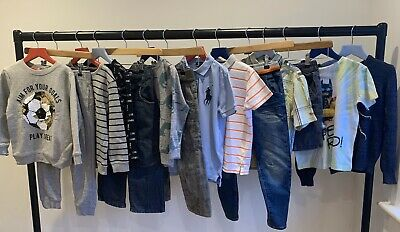 Boys Spring Bundle Age 5-6 Jumpers Jeans Joggers Polo TShirts Tops Shorts