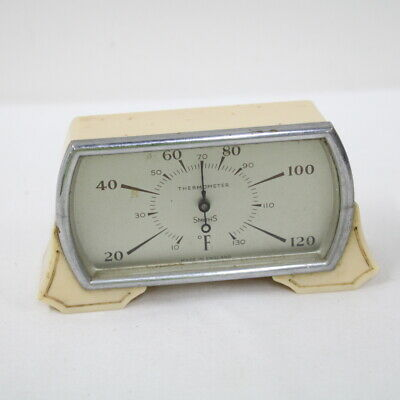 Vintage 1930s Smiths Bakelite Mantel Thermometer Made In England #117