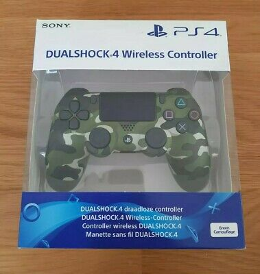 Official Sony Ps4 Dualshock 4 Wireless Controller (Green Camo) Brand New Sealed!