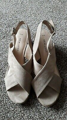 New Pair Ladies / Girls New Look Sandals Fawn UK Size 3 / EU 36