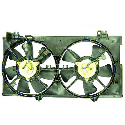 MA3115127 OE Style Dual Radiator Cooling Fan Shroud Assembly Replacement for Mazda 6 2.3L 2.3T 03-08