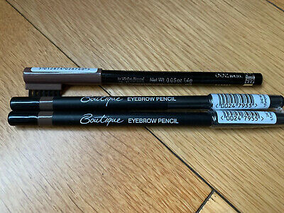 3x New Eyebrow Pencils Rimmel And Boutique Light Brown And Hazel
