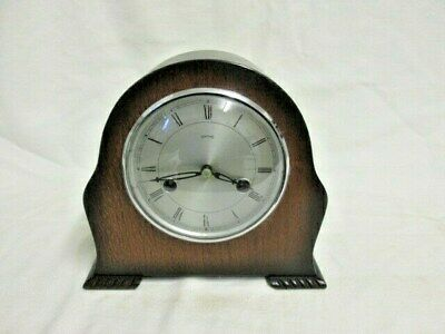 An Oak Smiths Enfield Chiming Mantel Clock