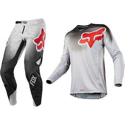 Fox Racing 360 Motocross MX Set Hose Trikot - Viza Grau