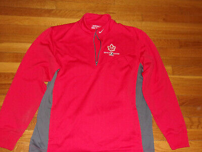 Nike Therma-Fit Golf Team Canada Hockey 1/2 Zip Pullover Mens Xl Excellent