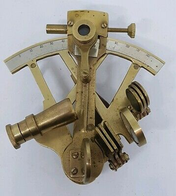 Nautical Antique Solid Brass Sextant Vintage Marine Working halloween Item.