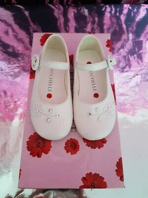 Girls Ivory Leather look shoes, Flower girl, Party, Child size 4, New in Box