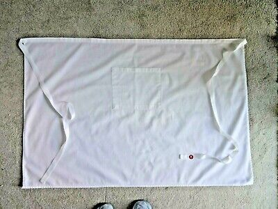 "Professional Chef Apron.  40"" X 26"" Large Pocket On Front, White, Long Ties"