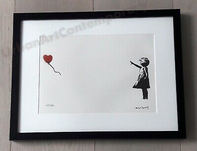 Banksy Girl Lithographie Signed Numbered on 150, Certificat Edition CADRE INCLUS