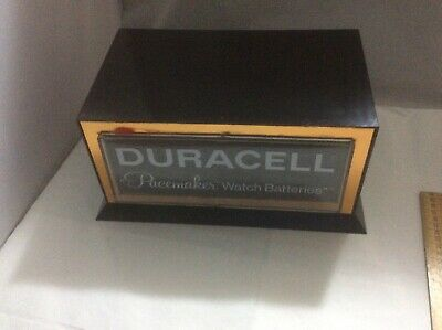 Vintage Plastic Advertising Drawers Collectors Cabinet Duracell Shop Display