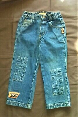 Child's Action Man Pull On Denim Jeans Age 3-4 years 2001 100% Cotton