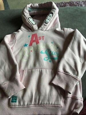 Next Girls Pink Long Sleeve Hooded Top Size 8 Years Good Condition