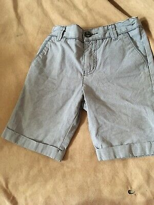 Ted Baker Boys Grey Green Shorts Age 6 Years Good Condition