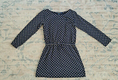 Polo Ralph Lauren Girls Blue Polka Dot Long Sleeve Dress Size 5