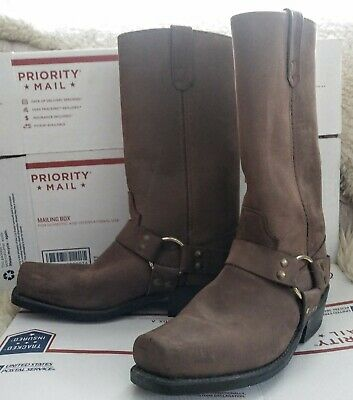 Hh Double H Brown Pull On Western Harness Boots Mens 7.5D