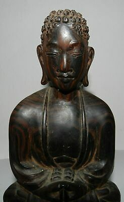 Old Wooden Buddha - S.e. Asia  -  Lovely Style - Excellent