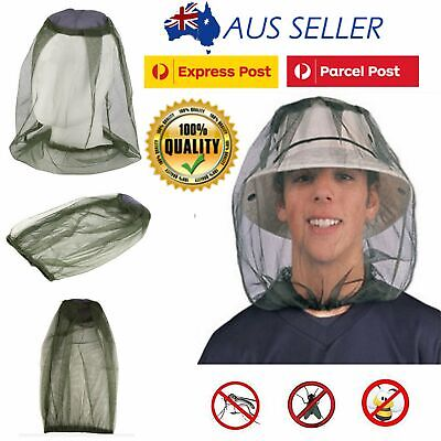 Insect Mosquito Fly Head Net Mesh Hat Bee Bug Mozzie Protector Outdoor Fishing