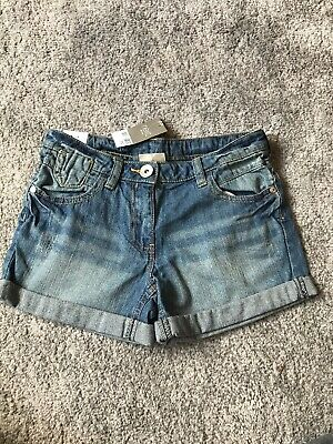 NEW Next Denim Shorts Bloomers 6-7Yr BNWT Girls Clothing Wear With Tights Summer
