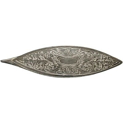 Lacis Victorian Engraved Tatting Shuttle-silver